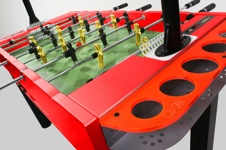 Supra - Profitability and design in a coin-op soccer table.