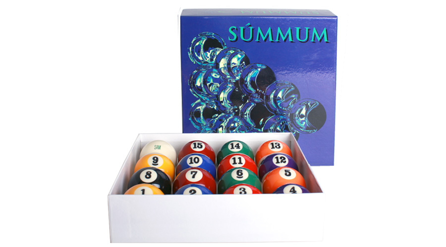 Summum Casino - Exclusivas de SAM para su mesa de pool inglés.