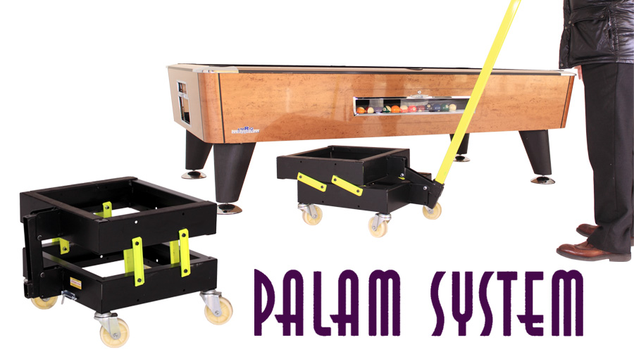 Palam System - The best in air hockey and pool tables transport. Easy and safe.