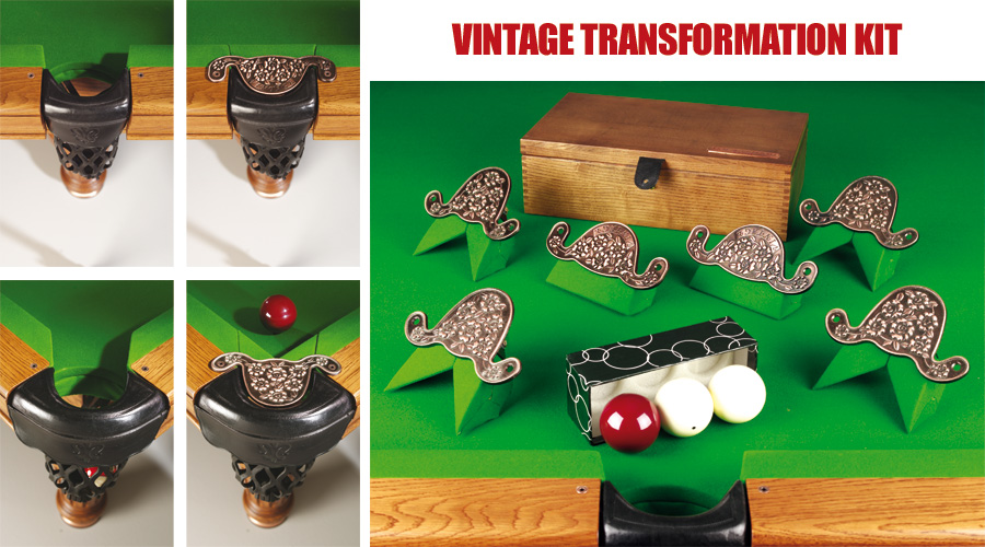 Transf. Kit - Change your pool table into a carom table easily.